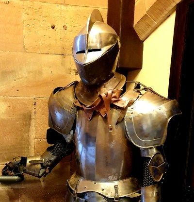 Image of a suit of armour in a castle from typicalmummy.co.uk