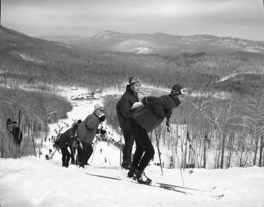Compétition de ski au Mont Orford