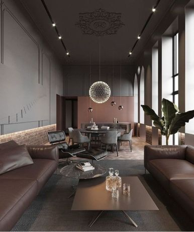 Muren en plafond één geheel