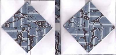 Open, using end paper scraps