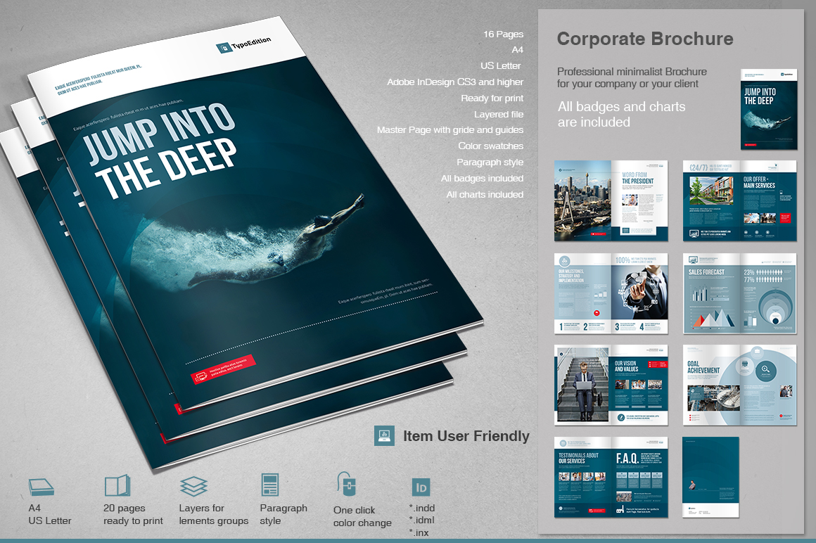 Corporate brochure 2 typoedition for Corporate brochure template