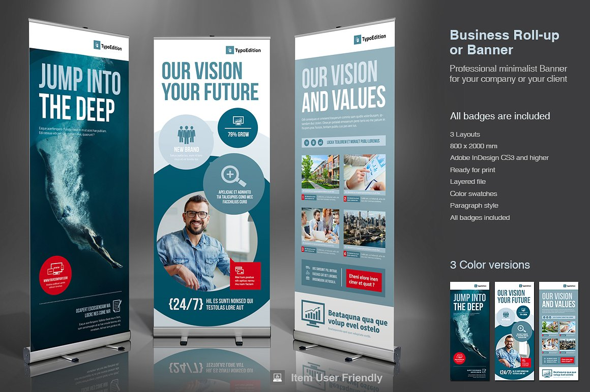 InDesign Roll-Up Banner Template