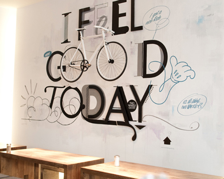 Marvelous Beautiful wall decoration I hope all coffee places would have so cool wall art Via The Cool Hunter
