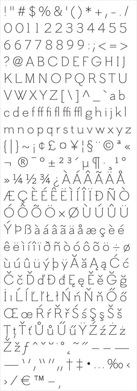 hilton-serif-char-set
