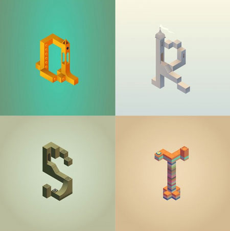 Alphabet-Inspired-by-Monument-Valley_4-640x642