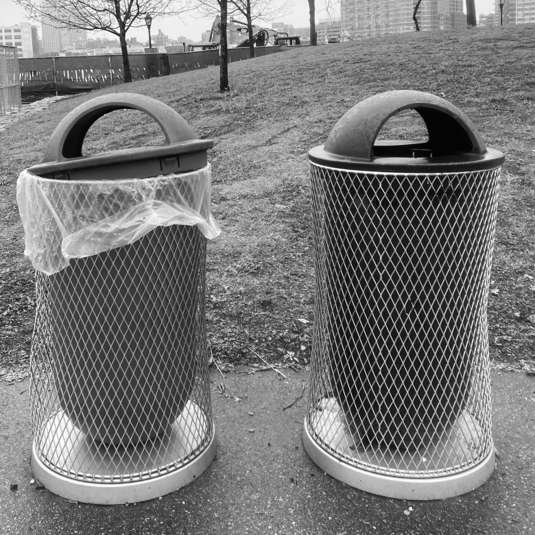 Roosevelt Island Park Waste Bins