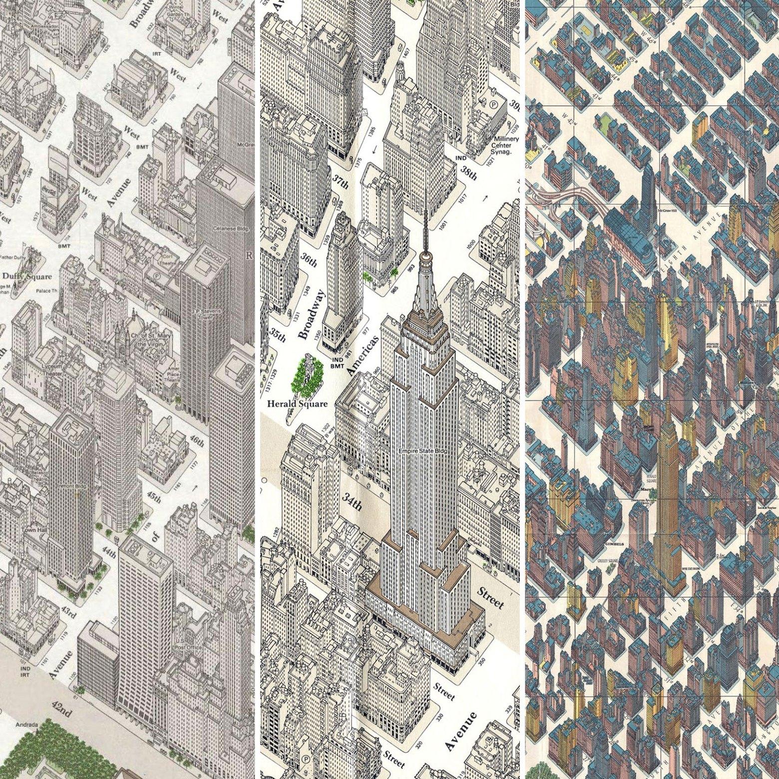 Axonometric views of NYC as inspiration