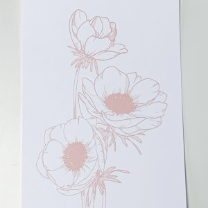 vonmelleart flower illustration
