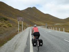 250 m to the top of the Lindis Pass