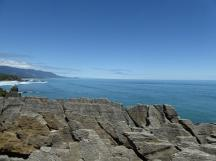 View down the coastline from Punakaiki