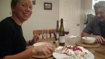 Philippa, Mike & pudding