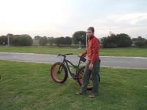 053. Adam playing on a fat bike