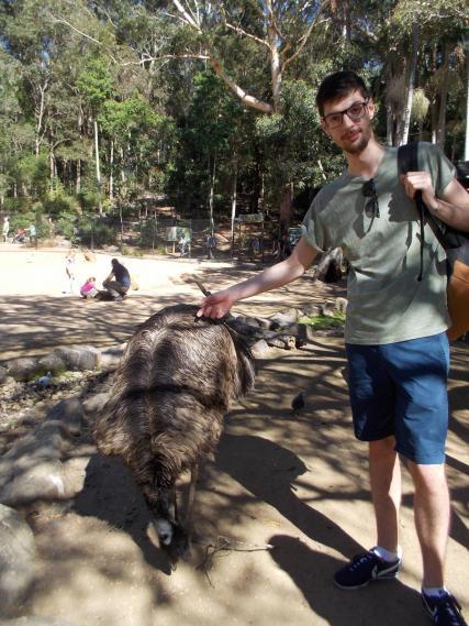 137. Alex & emu at Currumbin Wildlife Sanctuary