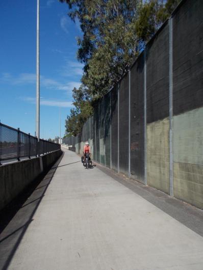 159. Massive V1 bike path next to the motorway