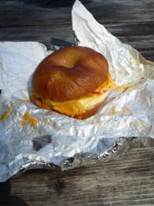 019. Breakfast bagel from Mazama store