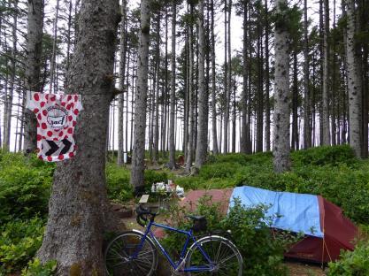 014. Cape Lookout State Park campsite - the biker part