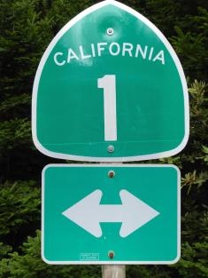 087. Highway 1 road sign