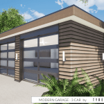 Modern Garage Plan 3 Car By Tyree House Plans