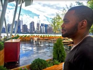 View Long Island City to Manhattan NYC with celebrity Tyrone Smith