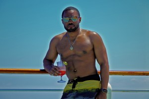 Chilling in Mediterranean Sea with celebrity musician producer artist social influencer Tyrone Smith