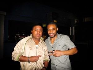 Nhari from Creative Control with celebrity musician producer influencer Tyrone Smith in Dallas Texas Deep Ellum