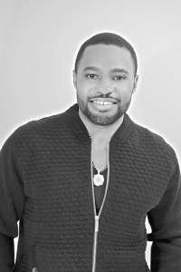 Menswear on celebrity music producer Mens fashion influencer Tyrone Smith with Ben Sherman LaPrairie and Avianne co jewelry
