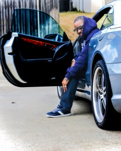 Tyrone Smith in Original Penguin Shoes Dallas Cowboys Nation Mercedes-Benz vehicle