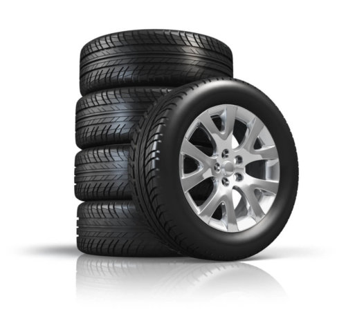 Set of car tyres in bollington