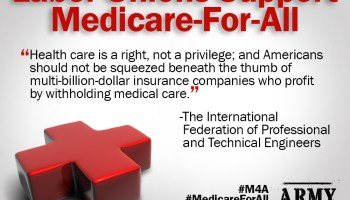 Substantial Support by Major Labor Unions for Medicare For