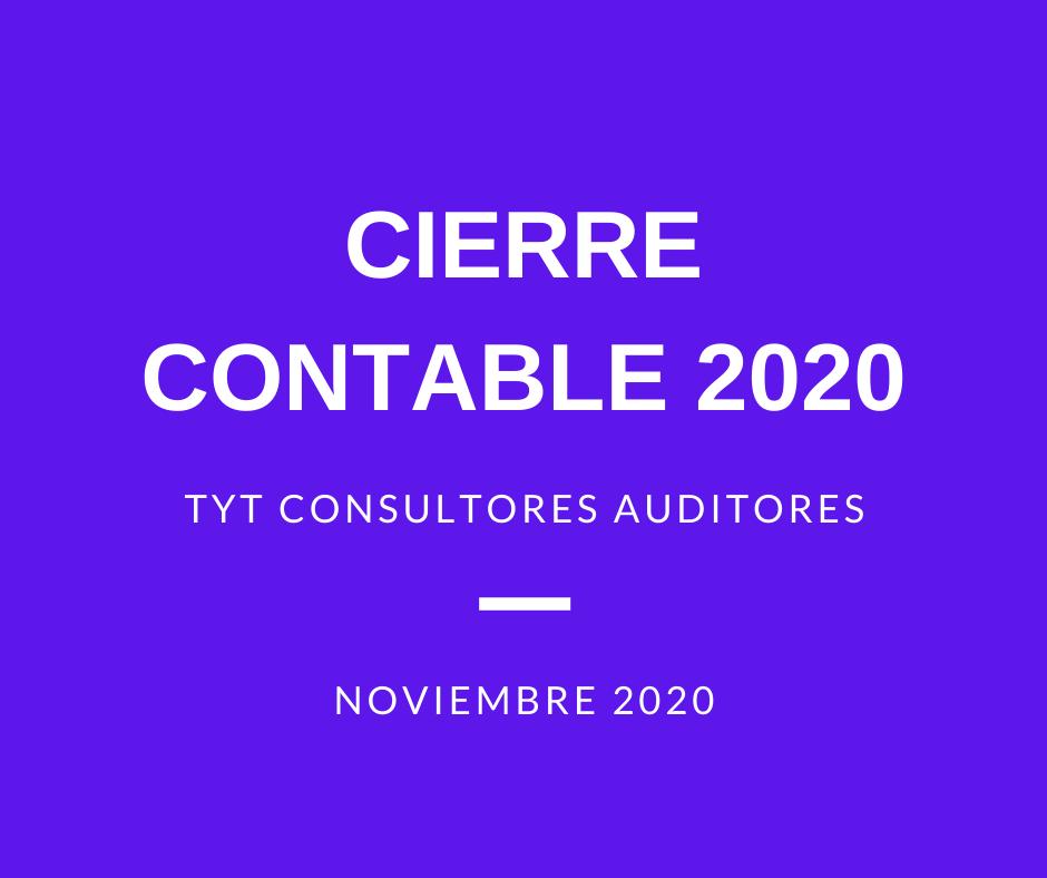 CIERRE CONTABLE 2020