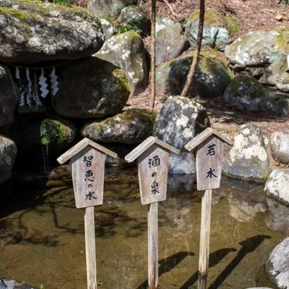 神社奥にある泉。若返りと目に良いのだとか。老眼に効くのだろうかw 酒の泉ともいわれていて、酒蔵が良いお酒ができるようにお参りするそうです。