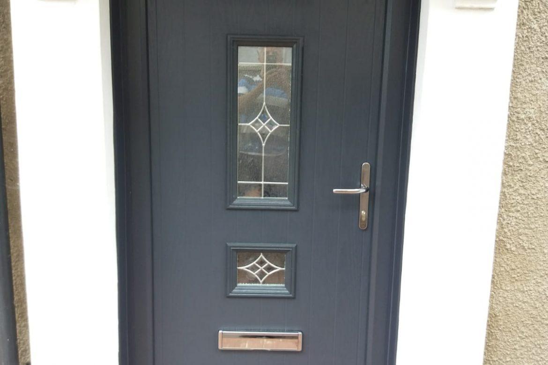 Dark Grey Composite Front Door. Supply And Fit