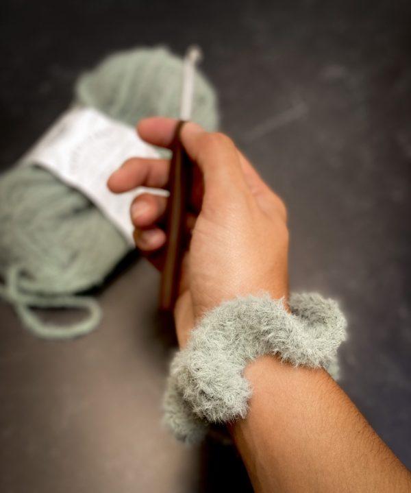 Fuzzy Scrunchie