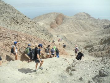 Almost Done With Eilat Of Hiking (Jordan In The Distance)