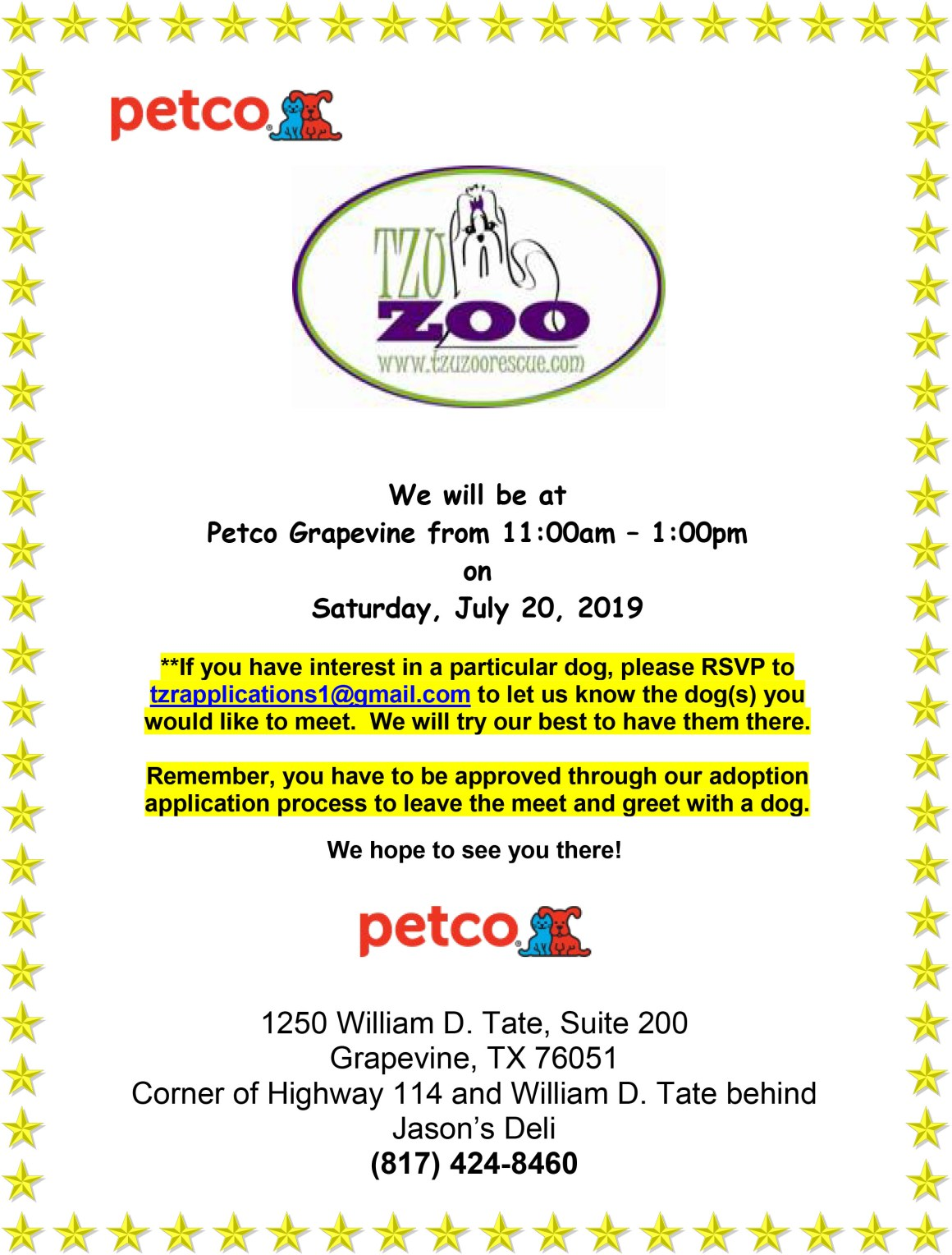 Meet & Greet - Petco Grapevine @ Petco - Grapevine