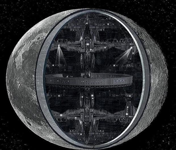 Внутри Луны скрывается огромная база инопланетян или портал для перемещения во Вселенной
