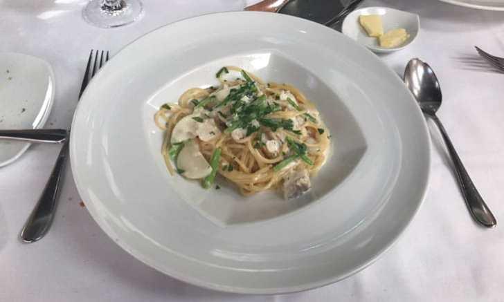 DAZZLE 真鱈とカブのスパゲティーニ