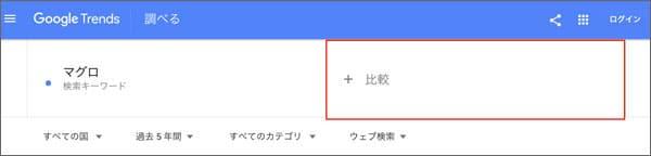 Googleトレンド 比較キーワード