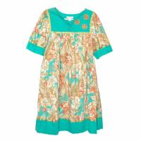 go softly embroidery bead tropical dress