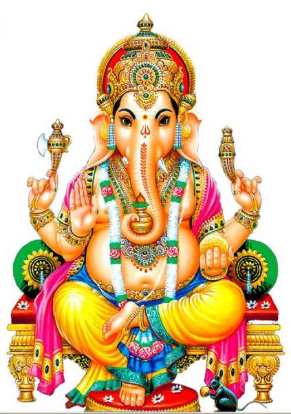 Этнические полотна с росписью — индийский бог Ганеша для ...