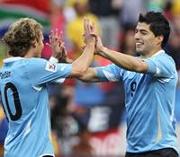 Luis Suarez & Diego Forlan - Uruguay (Getty Images)