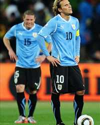 FIFA World Cup : Diego Perez & Diego Forlan (Uruguay vs Ghana) - (Gettyimages)