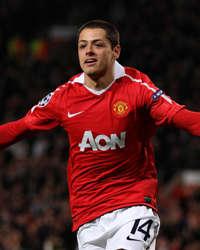 UEFA Champions League : Javier Hernandez, Manchester United v Marseille