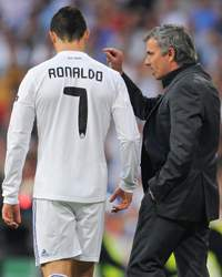 UEFA Champions League - Real Madrid vs Barcelona, Jose Mourinho and Cristiano Ronaldo
