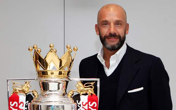 Barclays shoot with Gianluca Vialli
