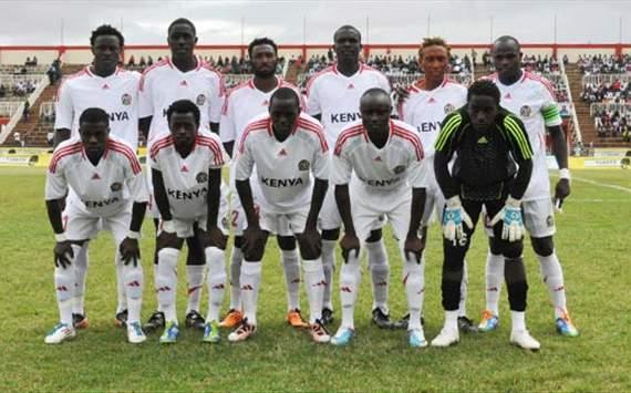 Kenya Harambee Stars squad.