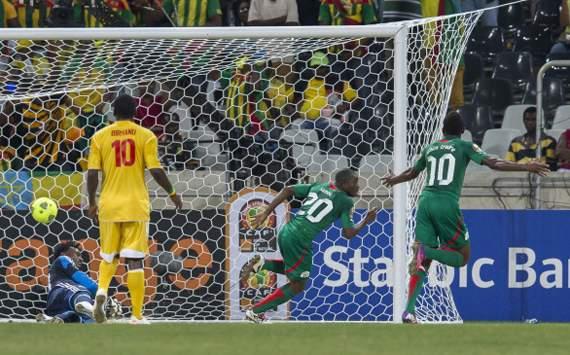 Ethiopia looks dejected as Burkina Faso score