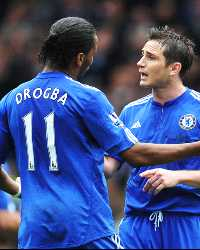 Didier Drogba, Frank Lampard, Chelsea London (Getty Images)