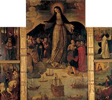 Alejo Fernández. Virgen de los Navegantes. 1531.Alcázar de Sevilla