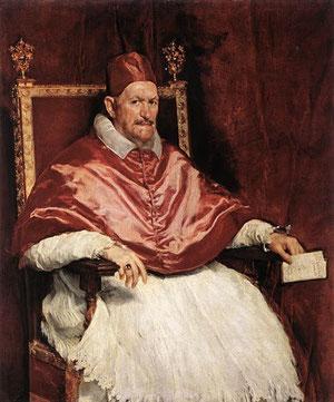 Inocencio X. 1650. Velazquez. Roma